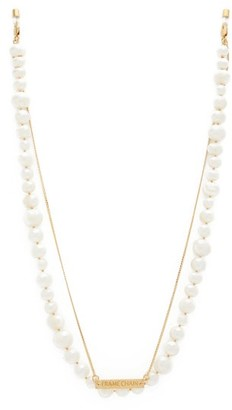 Frame Chain Pearly Princess Pearl & Gold-plated Glasses Chain - White