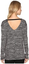 Calvin Klein Jeans Marl Long Sleeve V-Back Tee