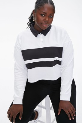 Forever 21 Plus Size Colorblock Rugby Tee