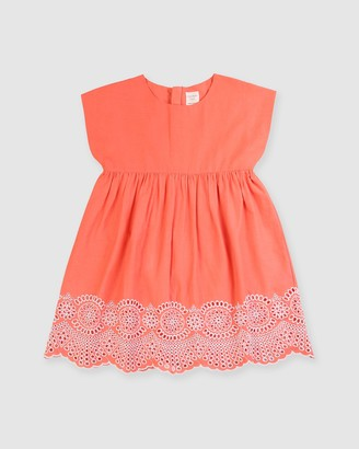 Carrément Beau Broderie Dress - Kids-Teens