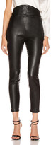 Mason by Michelle Mason Corset Leather Trouser in Black | FWRD