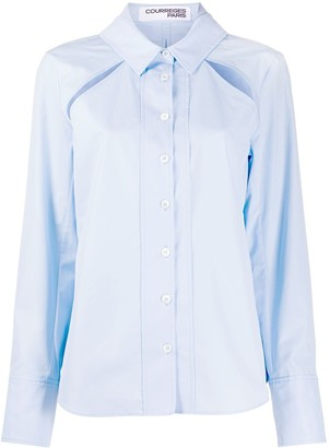 Courreges Cut-Out Detail Shirt