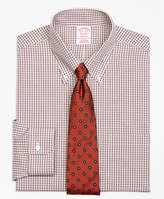 Brooks Brothers Non-Iron Milano Fit Twin Check Dress Shirt