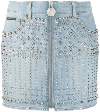 Philipp Plein Studded Mini Skirt