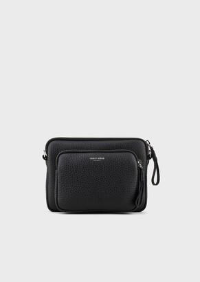 Giorgio Armani Reporter Bag In Deer-Print Leather