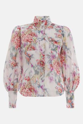Zimmermann Wavelength Billow Sleeve Shirt