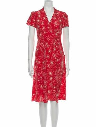 HVN Firework Knee-Length Dress Red