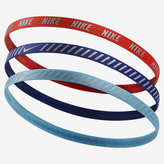 Nike Printed Hazard Stripe Assorted Headbands (3 Pack)