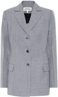 Loewe Striped wool blazer