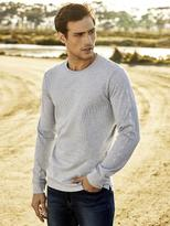 Jeanswest Todd Long Sleeve Print Crew Tee-Grey Marle-M