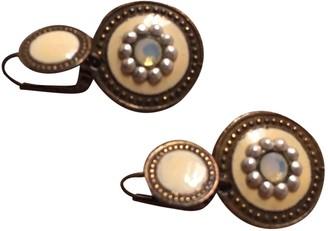 Gas Jeans Beige Metal Earrings
