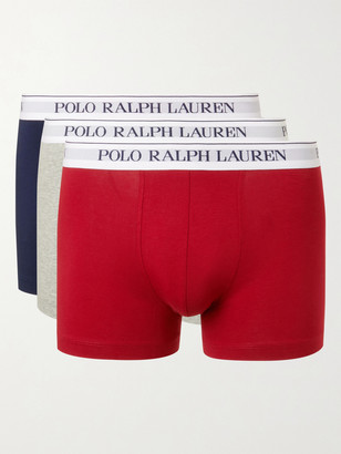 Polo Ralph Lauren Three-Pack Stretch-Cotton Jersey Boxer Briefs