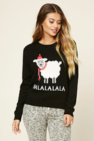 Forever 21 FOREVER 21+ Balalalala Holiday PJ Sweater