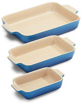 Le Creuset Three-Piece Stoneware Rectangular Dishes