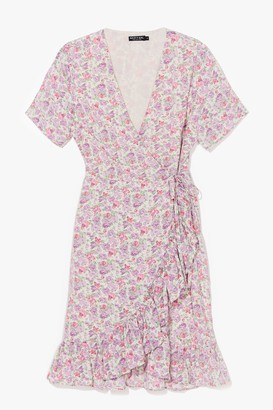 Nasty Gal Womens Bud Move Floral Mini Dress - Cream