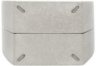 Maison Margiela Silver Dual Stackable Rings