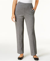 Alfred Dunner Petite Houndstooth-Print Pull-On Pants