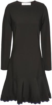 Victoria Victoria Beckham Flared Ribbed-knit Mini Dress