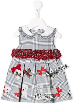 Lapin House Mixed-Print Short Dress
