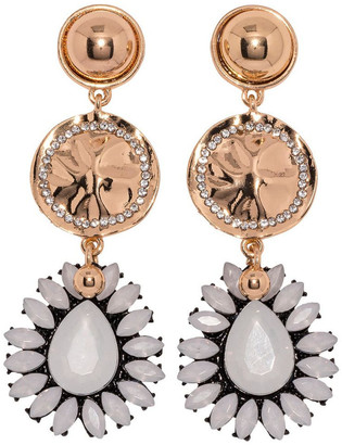 Ashlee Lauren White Aida Earrings