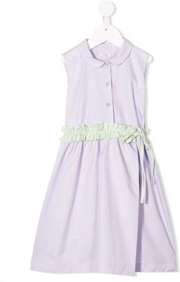 Il Gufo Wrap Front Shirt Dress