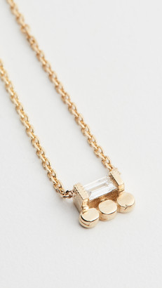 Jennie Kwon Designs 14k Baguette 3 Dot Necklace