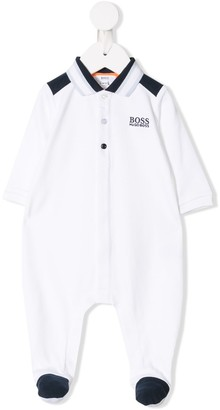 Boss Kids Logo Long-Sleeve Babygrow
