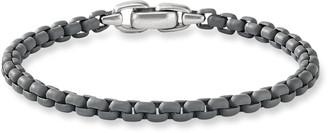 David Yurman Men's Acrylic-Coated Box Chain Bracelet, Gray Metallic, 5mm