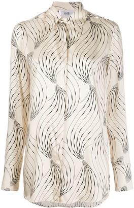 Victoria Victoria Beckham Long Sleeve Abstract Print Shirt