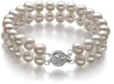 PearlsOnly 6-7mm A Quality Freshwater Cultured Pearl Bracelet-9 in length