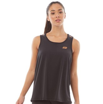 Skechers Womens Deena Performance Loose Fitted Vest Jet Black
