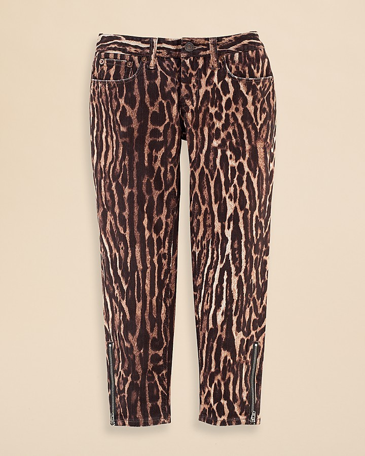 Ralph Lauren Girls' Leopard Cropped Jeans - Sizes 7-16