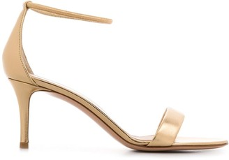 Gianvito Rossi Elasticated-Strap Mid-Heel Sandals
