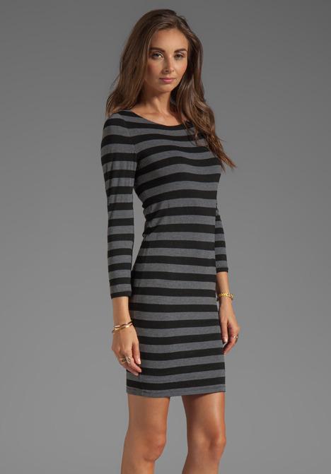 Alice + Olivia Long Sleeve Scoop Neck Dress