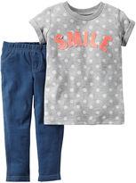 Carter's Smile Shirt and Jeggings Set - Baby Girls newborn-24m