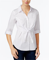 Amy Byer Juniors' Tie-Front Blouse