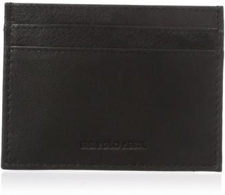 U.S. Polo Assn. Men's Genuine Goat Leather Wallet Clear Id Window Card Holder