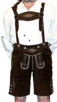 Dirndl Trachten Haus 2-Piece Leather German Oktoberfest Lederhosen Shorts 34