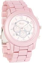 Geneva Platinum Pink Link Bracelet Watch