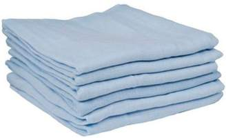 Dudu N Girlie 100 Percent Cotton Cot Bed Fitted Sheets, 72 cm x 72 cm, 3-Piece, Blue