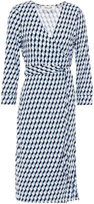 Diane von Furstenberg New Julian Leopard-print Stretch-jersey Wrap Dress