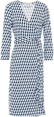 Diane von Furstenberg Printed Stretch-jersey Wrap Dress