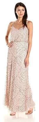 Adrianna Papell Women's Blouson Maxi Dress,(Manufacturer size: 12)