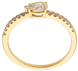 Anita Ko 18kt Yellow Gold Pear Diamond Pave Ring