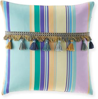 """Etro Venelles Striped 18"""" Pillow"""