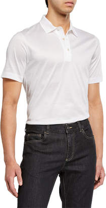 Canali Men's Solid Jersey Polo Shirt