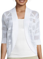Liz Claiborne 3/4 sleeves Crochet Cardigan Sweater