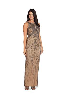 Adrianna Papell Bead Halter Dress