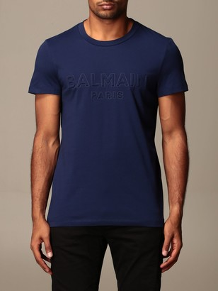 Balmain Cotton T-shirt With Embossed Logo