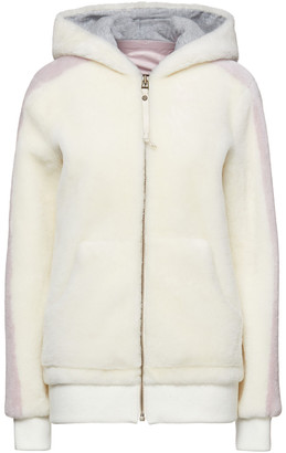 Mr & Mrs Italy Two-tone Shearling Hooded Jacket
